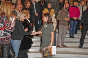 a destra: Bernadette Pisano vincitrice II premio