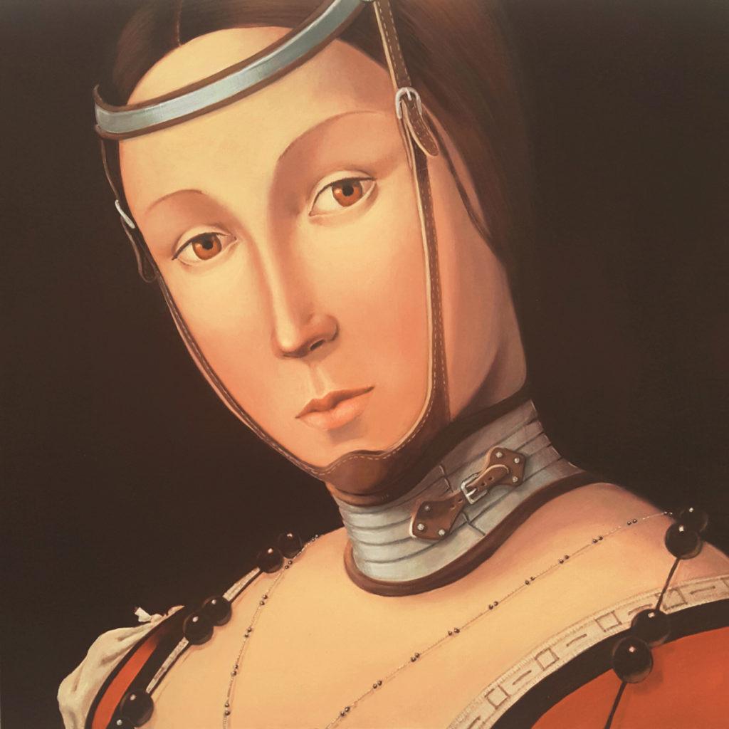 Vania Elettra Tam - Isabella d'Este - 2015 - 40x40 cm - acrilico su tela